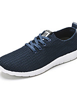 Men's Sneakers Summer Fall Comfort Light Soles Tulle Casual Flat Heel Blue Black Walking