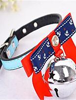 Chien Colliers décoratifs Vêtements pour Chien Eté Couleur Pleine Décontracté / Quotidien Jaune Bleu Rose Bleu clair
