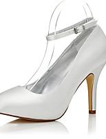 -Для женщин-Свадьба Для прогулок Для офиса Для праздника Для вечеринки / ужина-Шёлк-На шпильке-Dyeable обувь Удобная обувь клуб Обувь-