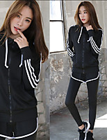 Women's Running Comfortable Spring Summer Leisure Sports Chinlon Loose Indoor Athleisure Activewear Solid