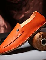 Men's Sneakers Spring Fall Comfort PU Casual Lace-up Orange Black White Walking