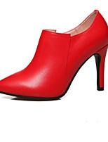 Los talones de las mujeres resorte comodidad pu blanco casual rojo negro