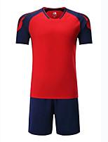 Unisex Fußball Oberteile Atmungsaktiv tragbar Komfortabel Frühling Sommer Herbst einfarbig Fussball Schwarz Orange Rot Grün Blau