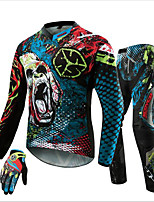 SCOYCO Motocross Off-Road MTB DH MX Racing Jersey  Hip Pads Pants  Motorcycle Gloves Set Motorcycle Dirt Bike Riding Clothing