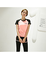 Women's Running Comfortable Spring Summer Leisure Sports Chinlon Loose Athleisure Solid Letter & Number