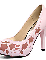 Women's Shoes Stiletto Heel Round Toe Platform Prining Slip On Pump More Color Available