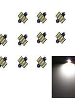 10pcs 31m m 16 * 2835 smd llevó la luz blanca dc12v de la bombilla del coche