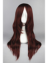 D.Grayman-Cross Maria Dark Red Straight Anime 26inch Cosplay Wigs CS-162D