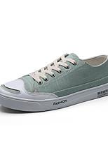 Белый Черный Бежевый Темно-синий Зеленый-Для мужчин-Повседневный-ТканьУдобная обувь-Кеды