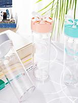 Transparente Exterior Artigos para Bebida, 350 ml Portátil Plástico Água Garrafas de Água