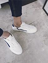 Herren-Sneaker-Outddor Lässig-Kunstleder-Flacher Absatz-Leuchtende Sohlen-Weiß Schwarz