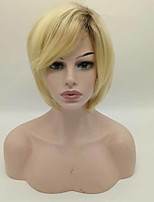 Synthetic Wigs 1B/Blonde Color Short Cheap Bob Wigs Heat Resistant For Afro Women