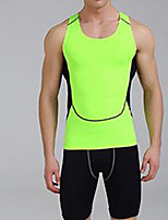 Men's Running Breathable Comfortable Sports Wear Camping / Hiking Exercise & Fitness 100% Polyester White Black Forest Green Solid