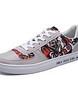 Men's Sneakers Spring Summer Comfort Canvas Outdoor Athletic Casual Flat Heel Lace-up Black/Blue Black/White Black/Red Gray