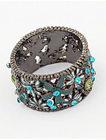 Euramerican Fashion Vintage Classic Flower Rhinestone Ring Movie Jewelry