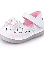 Baby Girls' Sandals Comfort PU Summer Outdoor Comfort Flat Heel White Blushing Pink Flat
