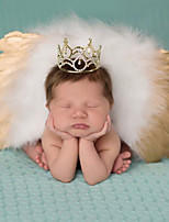 Newborn Baby's Feather  Modelling of the Angel Gold Sliver Photographic Cloths(0-3 Months)