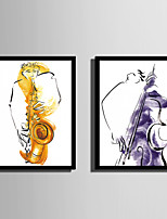 E-HOME® Framed Canvas Art Abstract Musician Framed Canvas Print One Pcs