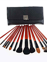 15 Mountain Fleece Make Up Brush Set