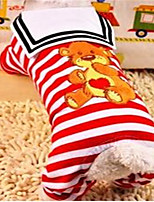 Dog Clothes/Jumpsuit Dog Clothes Spring/Fall Stripe Cute Blue Red