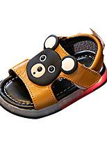 Boys' Sandals Spring Summer Comfort PU Casual Flat Heel LED Yellow White