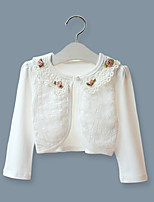 Girls' White/Pink Long Sleeve Cardigan Jacket (1-12 T)