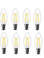 ® Shenmeile 3.5 E14 LED Filament Bulbs C35 4 COB 400 lm Warm White Decorative AC220 AC230 AC240 V 8 pcs