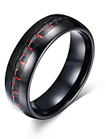Men's Ring Basic Fashion Personalized Euramerican Simple Style Costume Jewelry Tungsten Steel Circle Round Geometric Jewelry For Party