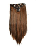 Synthetic hair Extensions 25inch Long 180g Straight Fake False Hair Extension Heat Resistant Synthetic Natural Hair Extension D1021 2H30#