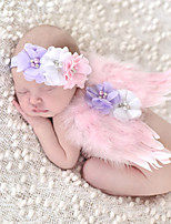 Newborn Baby's Feather  Modelling of the Angel Red Pink Fuschia Photographic Cloths