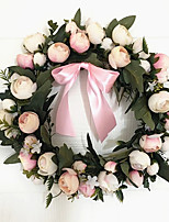 30CM  Diameter Garland Door Decoration Wedding Room Decorate  Artificial Flowers