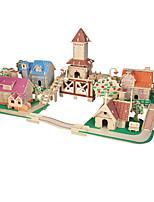 Quebra-cabeças Quebra-Cabeças 3D Blocos de construção Brinquedos Faça Você Mesmo Construções Famosas Madeira Modelo e Blocos de Construção
