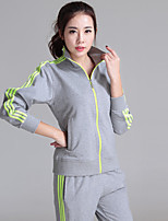 Women's Long Sleeve Running Tracksuit Breathable Moisture Permeability Spring Fall/Autumn Sports WearCamping / Hiking Exercise & Fitness