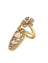 Ring Flower Style Euramerican Fashion Rhinestone Zinc Alloy Jewelry For Wedding Party Special Occasion 1pc
