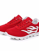 Women's Sneakers Spring Comfort Canvas Casual Red Black