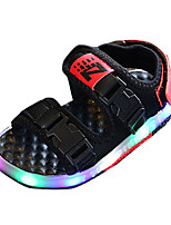 Boys' Sandals Spring Summer Comfort PU Casual Flat Heel LED Black White