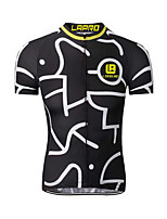 Cycling Jersey Men's Short Sleeve Bike JerseyQuick Dry Breathable Lightweight Materials Back Pocket Limits Bacteria Sweat-wicking