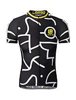 Camisa para Ciclismo Homens Manga Curta Moto Camisa/Roupas Para EsporteSecagem Rápida Respirável Materiais Leves Bolso Traseiro