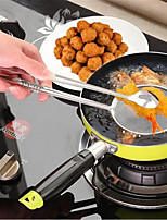 Kitchen Multi-Function Strainers With Clamp Stainless Steel Cooking Tools