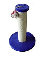 Cat Toy Interactive Scratch Pad Durable Wood Sisal Blushing Pink Blue Green Rose Purple