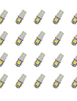 20Pcs T10 5*5050 SMD LED Car Light Bulb Warm Light DC12V