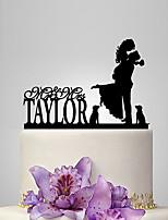 Decorações de Bolo Personalizado Casal Clássico Acrilíco Casamento Aniversário Despedida de Solteira Tema  Jardim Tema Clássico PPO
