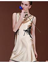 Lingerie en Dentelle Vêtement de nuit Femme Couleur Pleine-Mince Polyester Aux femmes