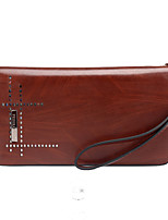 Men PU Formal Casual Event/Party Office & Career Clutch Khaki Brown