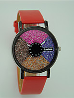 Women's Colorful Wrist watch Quartz Leather Band Casual
