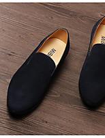 Мужской спортивные туфли весна комфорт кожа замша casual экран цвет темно-синий черный