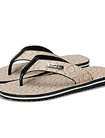 Men's Slippers & Flip-Flops Summer Light Soles PU Casual Earth Yellow White