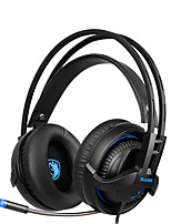 SADES SA935 New Deep Bass headphones with Retractable Mic PC Gaming Headset Stereo Professional headsets Noise-Canceling Volume Control LED