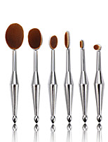 6pcs Sliver tooth Makeup Brush Set Blush Brush Eyeshadow Brush Eyeliner Brush Concealer Brush Foundation Brush Synthetic HairProfessional FullCoverage