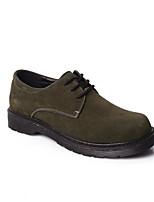 Черный Военно-зеленный-Для мужчин-Повседневный-Замша-На низком каблуке-Удобная обувь-Мокасины и Свитер